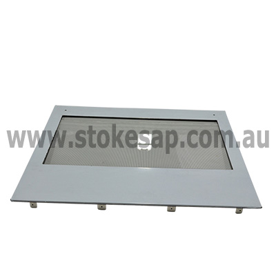 ST GEORGE OVEN OUTER DOOR GLASS LARGE DOOR WITH STAINLESS STEEL TRIM