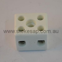 CONNECTOR CERAMIC 10 AMP 2 WAY - Click for more info