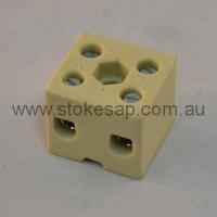 CERAMIC BLOCK 2 WAY 15 AMP - Click for more info