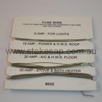 FUSE WIRE CARD 8A 16A 20A & 30A - Click for more info