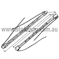 INFRA-RED QUARTZ LAMP 500W METAL ENDS - Click for more info