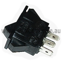 UNIVERSAL ROCKER SWITCH 15A 3 PIN BLACK - Click for more info