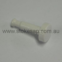 CLOCK PUSH BUTTON - WHITE - Click for more info