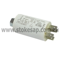 UNIVERSAL MOTOR RUN CAPACITOR 4UF 450V 2 PIN ROUND TYPE - Click for more info