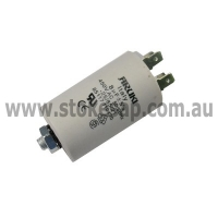 UNIVERSAL MOTOR RUN CAPACITOR 8UF 450V 2 PIN ROUND TYPE - Click for more info