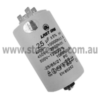 UNIVERSAL MOTOR RUN CAPACITOR 25UF 450V 2 PIN ROUND TYPE - Click for more info