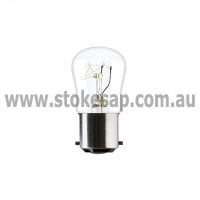 PILOT LAMP BC CLEAR 15W 240V - Click for more info