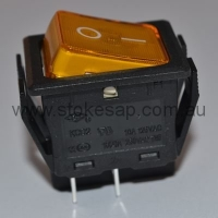 ORANGE ILLUMINATED ROCKER SWITCH DPST - Click for more info
