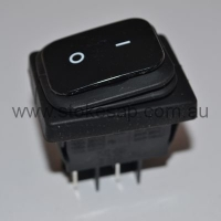 BLACK ROCKER SWITCH DPST - Click for more info