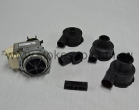 UNIVERSAL DRAIN PUMP INCLUDES 3 HOUSINGS & FITTINGS HOOVER AND MANY BRANDS - Click for more info