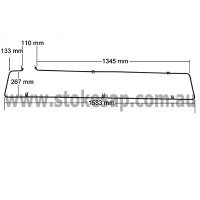 BAIN MARIE ELEMENT 2700W 1580 X 270MM - Click for more info