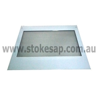 ST GEORGE OVEN OUTER DOOR GLASS LARGE OVEN WITH STAINLESS STEEL TRIM - Click for more info