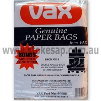 VAX VACUUM CLEANER PAPER BAGS PACK OF 5 - Click for more info